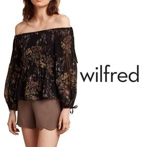 Aritzia Wilfred Talence Off-the-Shoulder Blouse
